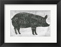 Framed Farmhouse Butcher I