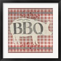 Framed Gingham BBQ I