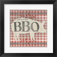 Framed Gingham BBQ I