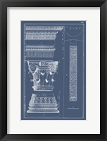 Framed Column & Cornice Blueprint I