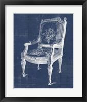 Framed Antique Chair Blueprint IV