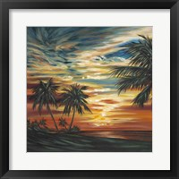 Framed Stunning Tropical Sunset I