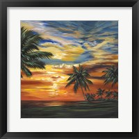 Framed Stunning Tropical Sunset II