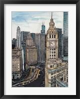 Framed US Cityscape-Chicago