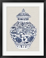Framed Antique Chinese Vase III