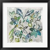 Framed Sapphire Vine I