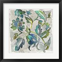 Framed Sapphire Vine II