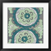 Framed Teal Tapestry III