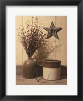 Framed Crocks and Star