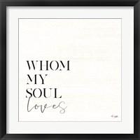 Framed Whom My Soul Loves