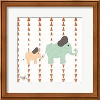Framed Zoo Animals Elephants