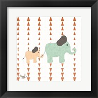 Framed Zoo Animals Elephants
