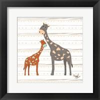 Framed Zoo Animals Giraffes