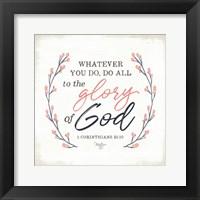 Framed Glory of God