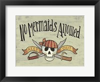 Framed No Mermaid's Allowed