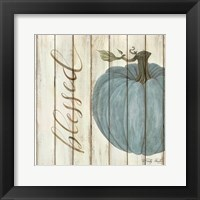 Framed Blessed Blue Pumpkin
