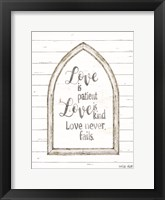 Framed Love is Patient Arch