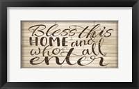 Framed Bless this Home