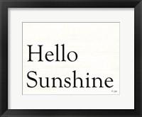 Framed Hello Sunshine