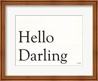 Framed Hello Darling