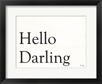 Framed Hello Darling