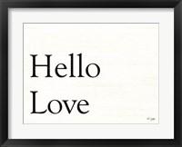 Framed Hello Love