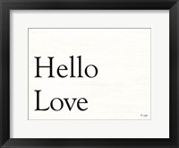 Framed Hello Love