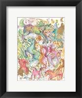 Framed Unicorn Dance