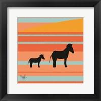 Framed Safari Sunset 1