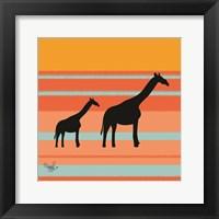Framed Safari Sunset 2