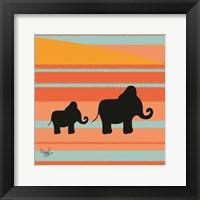Framed Safari Sunset 3