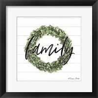 Family Boxwood Wreath Framed Print
