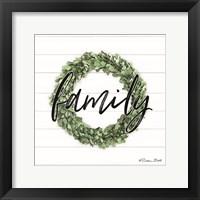Framed Family Boxwood Wreath