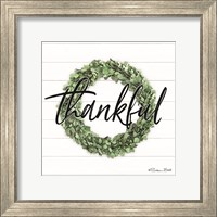 Framed Thankful Boxwood Wreath