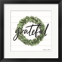 Grateful Boxwood Wreath Framed Print