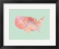 Framed Marble USA Map