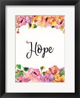 Framed Floral Hope