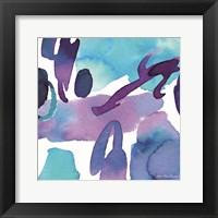 Framed Modern Violet Watercolor