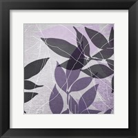 Framed Vibrant Purple Leaf 3