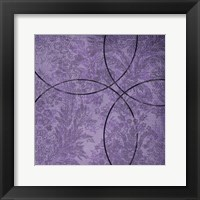 Framed Vibrant Purple Square 4