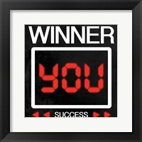 Framed Winner Is You