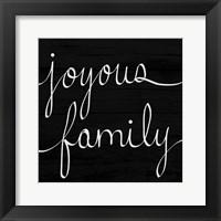 Framed Joyous Family