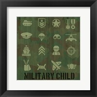 Framed Military Child
