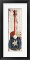 Framed Texas Guitar