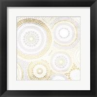 Framed Gold Silver Dots