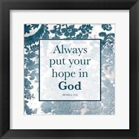 Framed Hope In God