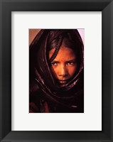 Framed luc Manaud - Young Tuareg Woman, Niger