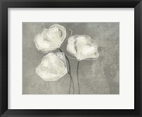 Framed Sketched White Blooms 2