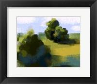 Framed Green Landscape