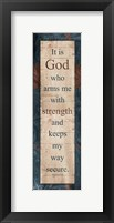 Framed God Strength